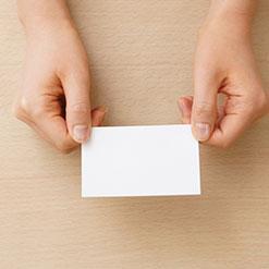 名刺の写真